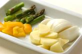 イカと野菜のオーブン焼きの下準備2