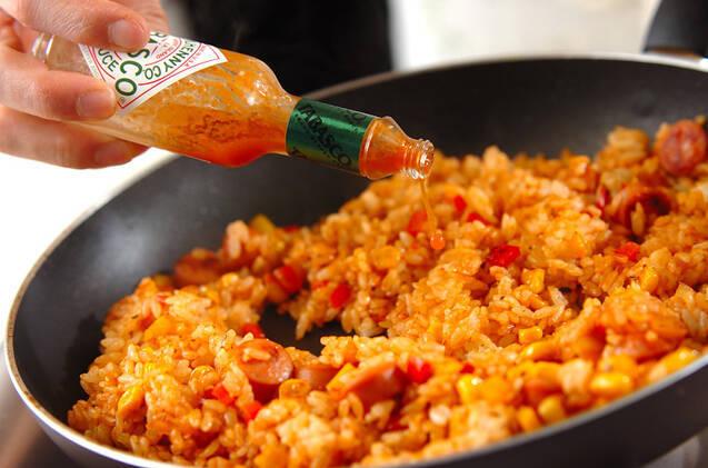 炒めジャンバラヤの作り方の手順4