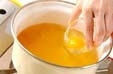 落とし卵のお吸い物の作り方1