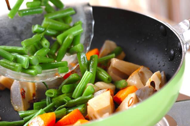 レンコンのペッパー炒めの作り方の手順4