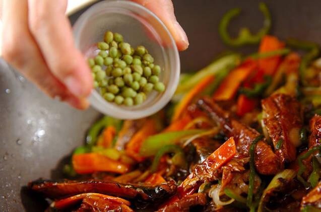 サンマ缶のピリ辛焼きそばの作り方の手順9