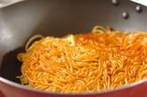 サンマ缶のピリ辛焼きそばの作り方8
