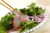 鯛と紫玉ネギのカルパッチョの作り方4
