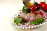 鯛と紫玉ネギのカルパッチョの作り方2