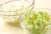 塩もみ白菜の甘酢漬けの下準備1