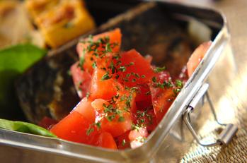 サバのさっぱりトマトソース
