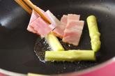 アスパラとベーコン炒め物の作り方2