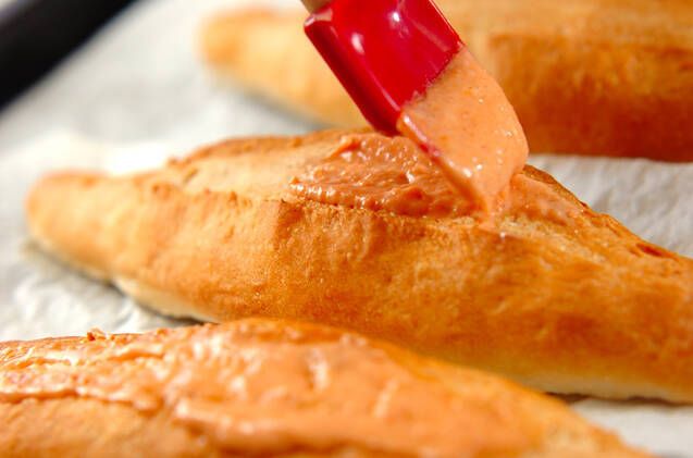 明太子フランスパンの作り方の手順11