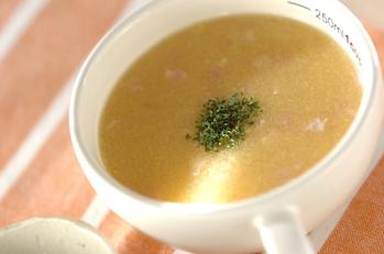 ベーコン入りコーンスープ
