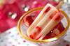甘酒イチゴのアイスキャンディー