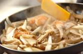 キノコとエビのマヨ炒めの作り方3