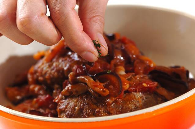 トマトソース煮込みハンバーグの作り方の手順8