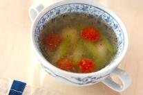アスパラの中華スープ