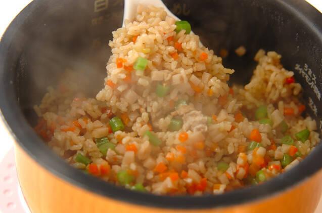 玄米の具だくさん炊き込みご飯の作り方の手順9