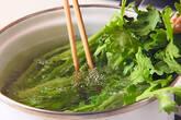 菊菜のゴマ和えの作り方2
