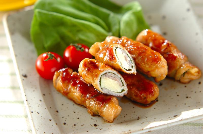5.豚肉のチーズ巻き焼き