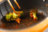 ブロッコリーのケチャップ炒めの作り方2