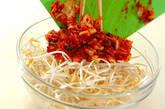 モヤシのピリ辛チヂミの作り方2