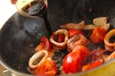トマトとイカのおかかバターソテーの作り方2