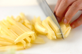 ジャガイモと卵のケチャップ炒めの下準備1
