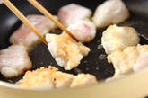 タラのケチャップ炒めの作り方1