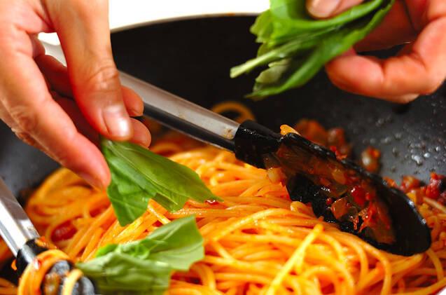 基本のトマトパスタの作り方の手順5