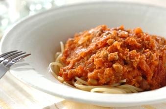 おから納豆ミートスパゲティー