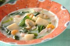 チンゲンサイの海鮮クリーム煮