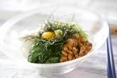 長芋と納豆のサラダ