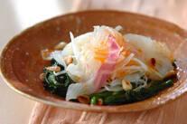 白身魚のピリ辛カルパッチョ