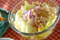 紫玉ネギのサラダ
