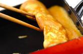 ベーコンとチーズ入り卵焼きの作り方4