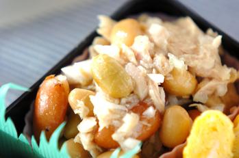 豆とツナのサラダ