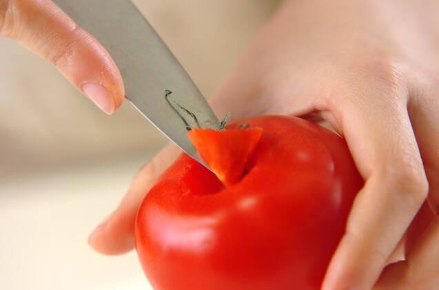 牛肉とトマトの甘辛炒め煮の作り方の手順2