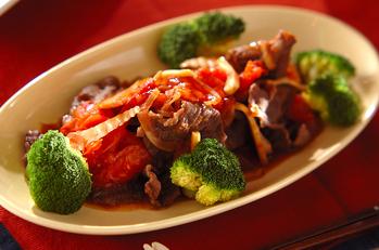 牛肉とトマトの甘辛炒め煮