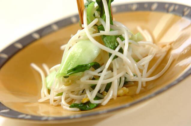 チンゲンサイの塩炒めの作り方の手順4