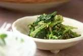 菊菜とミツバのゴマ和え