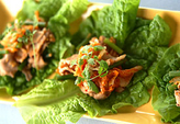ゆで豚のキムチ炒めのサンチュ包みの作り方4