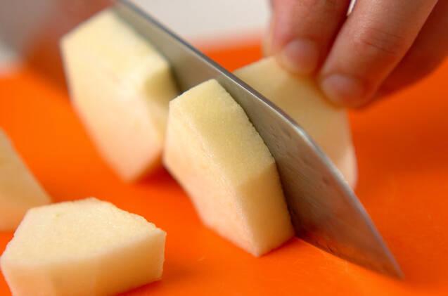 リンゴのシャキシャキサラダの作り方の手順1