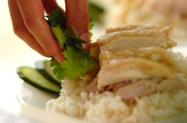 炊飯器でつくるシンガポールチキンライスの作り方の手順8