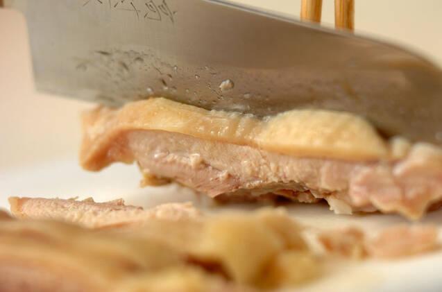 炊飯器でつくるシンガポールチキンライスの作り方の手順7