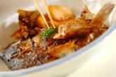 鯛のアラ炊きゴボウ添えの作り方7