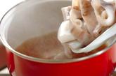イカと小松菜のトロミ煮の作り方1