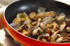 菜の花とアサリのパスタの作り方の手順4