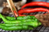 焼き茸と長唐辛子の作り方2