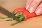 焼き茸と長唐辛子の作り方1