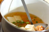 エビと豆腐のピリ辛スープの作り方4