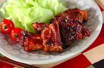 骨付き豚バラ肉の甘辛煮