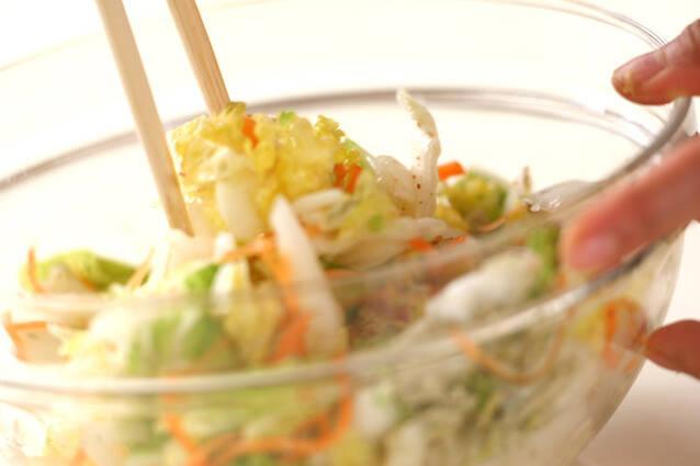 白菜の塩もみの作り方の手順4