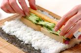 節分の巻き寿司(恵方巻き)の作り方5